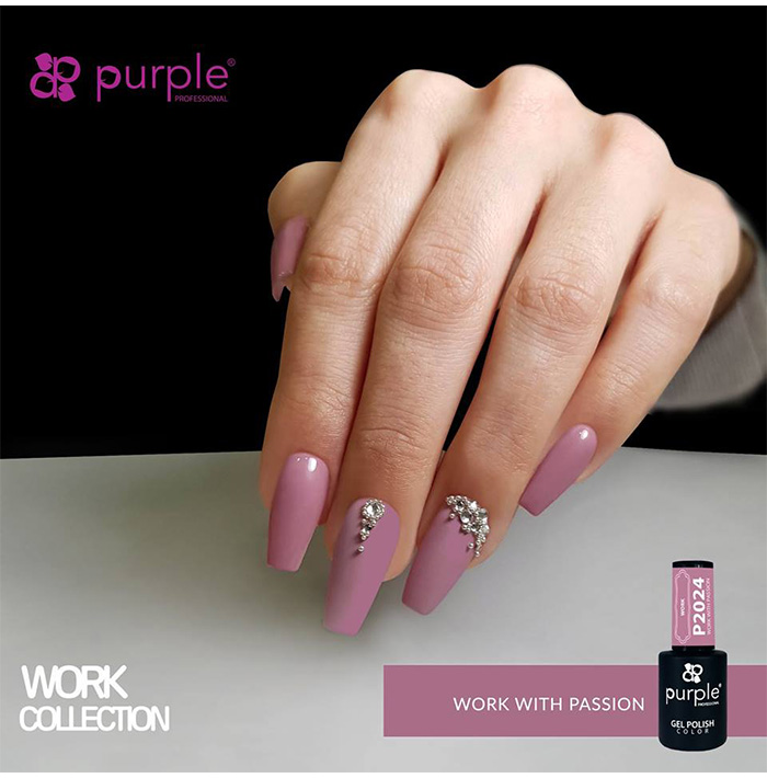 GEL SEMIP. 10ML WORK WITH PASSION RF:P2024 (PURPLE